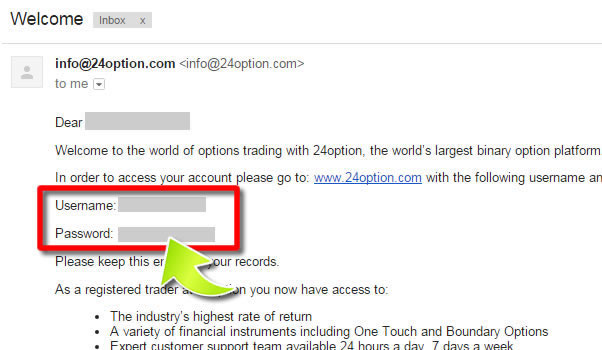 How to Open an Account on 24Option - Method 5