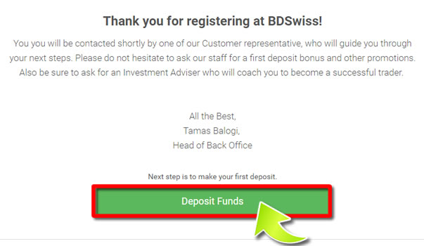 STEP3 HOW TO OPEN AN BDSwiss ACCOUNT