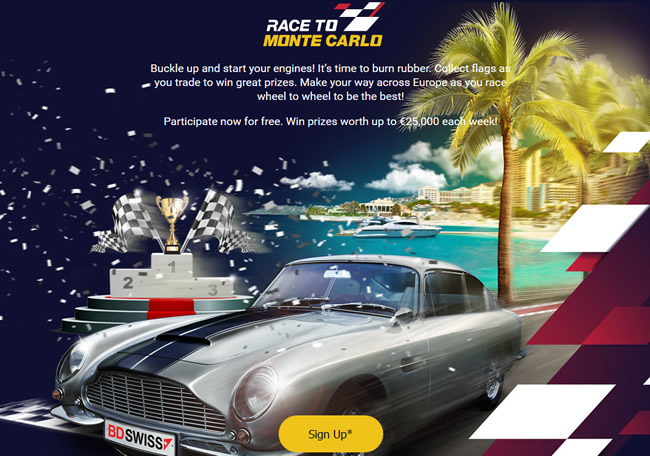 Take Part in the BDSwiss Race to Monte Carlo Campaign