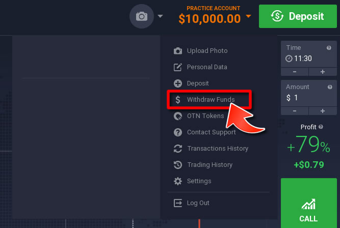 How to Withdraw Funds on IQOption- Method 1