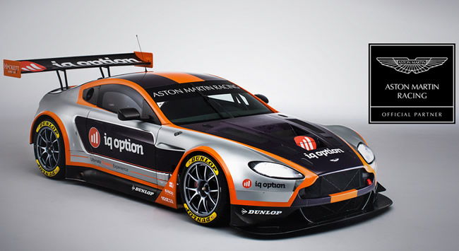 IQ Option Signs a Partnership Deal with Aston Martin Racing