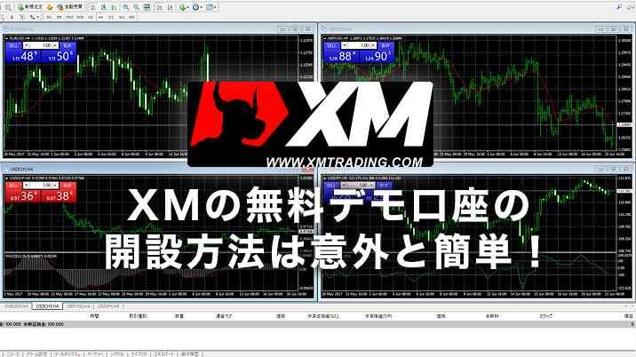 XMの無料デモ口座の開設方法は意外と簡単