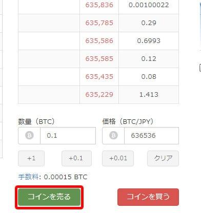 ビットコイン売り方2