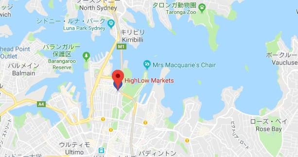 ハイローオーストラリアの会社概要 グーグル・マップで見ると
