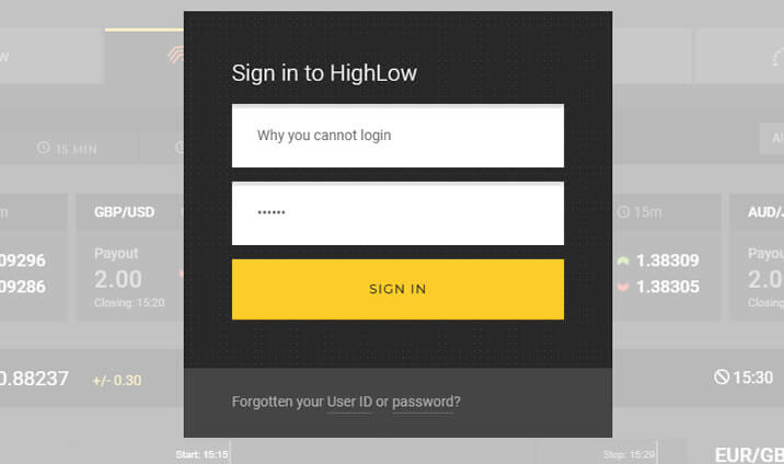 Why you cannot login