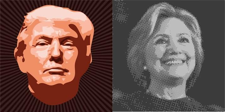 ニュース ヒラリークリントンとドナルド・トランプ