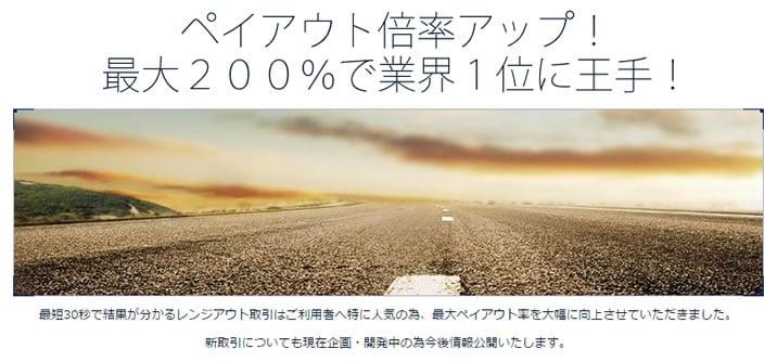 ソニックオプションのペイアウト率200%