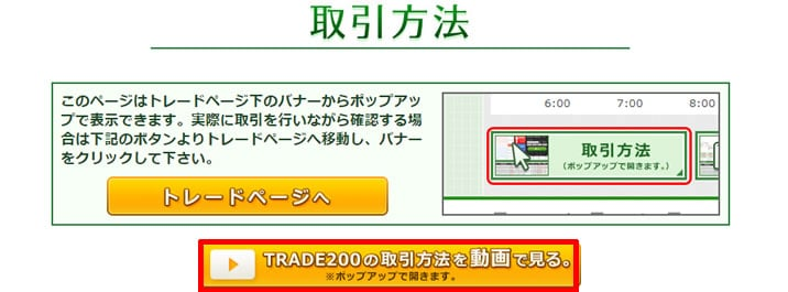 トレード200 動画