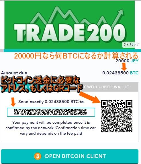 トレード200ビットコイン入金方法3