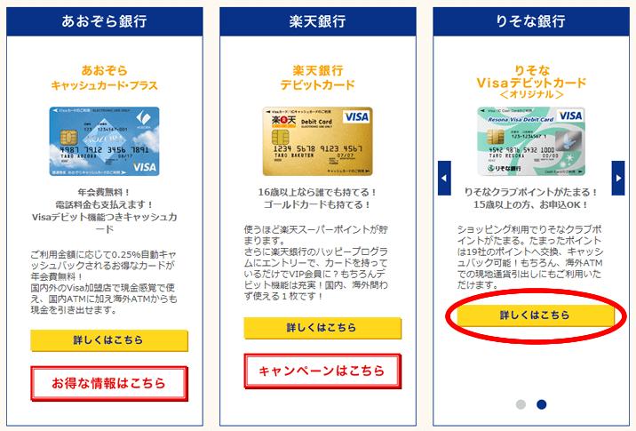 Visaデビットカード発行の流れ