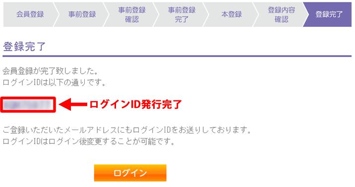 バニラVisaオンライン会員登録完了